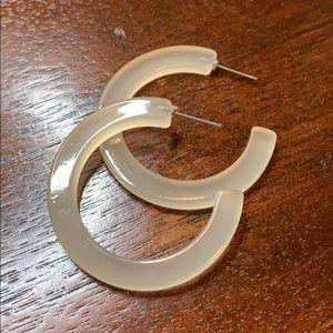 Clear / translucent acrylic hoop earrings